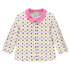 Μπλουζάκι με μακριά μανίκια με σχέδιο Disney Minnie και γιακά με στρογγυλεμένες μύτες