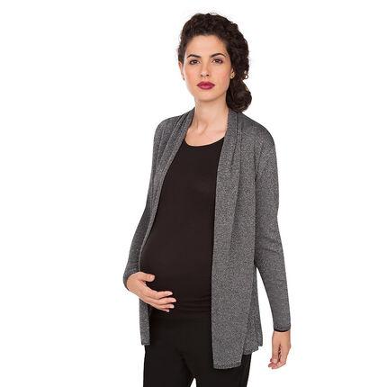 Ζακέτα εγκυμοσύνης με πέτα με διακοσμητικό σχέδιο από lurex