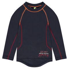 Μακρυμάνικη μπλούζα από πολυέστερ με ρεγκλάν μανίκια