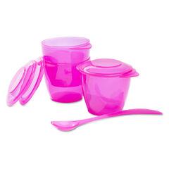 Σετ φαγητού fluo ροζ