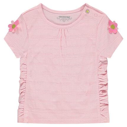 Κοντομάνικη μπλούζα με σούρες και λουλούδια στα μανίκια - Orchestra GR 78a65afbb8d
