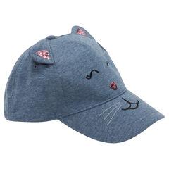 Καπέλο τζόκεϊ από φανέλα με ραμμένα αυτάκια και πούλιες