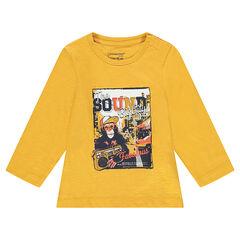 Μακρυμάνικη μπλούζα από ζέρσεϊ με φαντεζί τύπωμα
