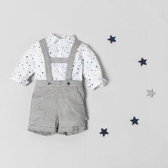 Σύνολο εμπριμέ πουκάμισο με αστέρια και σαλοπέτα σόρτς