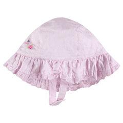 Βαμβακερό καπέλο με κεντήματα