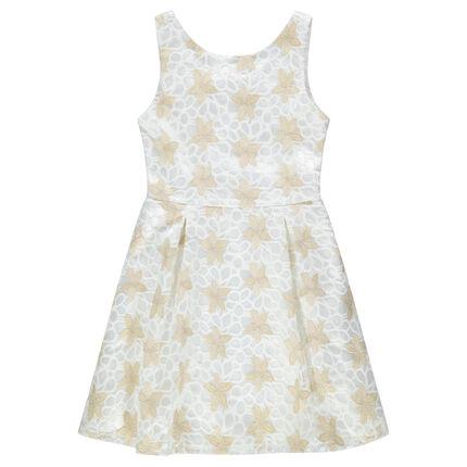f0e04f816c69 Παιδικά - Αμάνικο φόρεμα από δαντέλα με χρυσαφί λουλούδια - Orchestra GR