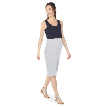 Φόρεμα εγκυμοσύνης και θηλασμού 2 σε 1 μονόχρωμο/ριγέ