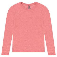 Μακρυμάνικη μπλούζα με ντεβορέ ύφανση