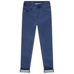 Παντελόνι-κολάν με φθαρμένη όψη και λάστιχο στη μέση