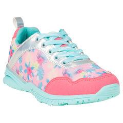 Πολύχρωμα αθλητικά παπούτσια με φλοράλ μοτίβο
