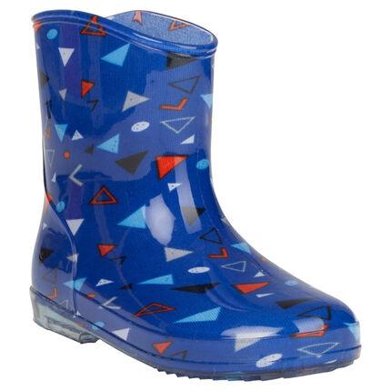 Bottes de pluie motif géométrique all-over du 24 au 29