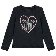 T-shirt μακρυμάνικο με μήνυμα για κορίτσι , Orchestra