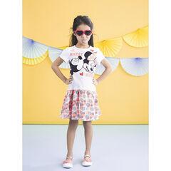 Φόρεμα κοντομάνικο με τύπωμα  Mickey και Minnie σε φαντεζί  σχέδια