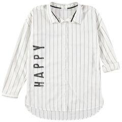 Παιδικά - Μακρυμάνικο πουκάμισο με κάθετες ρίγες και τυπωμένη φράση