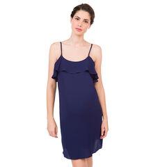 Φόρεμα εγκυμοσύνης με βολάν και τιράντες