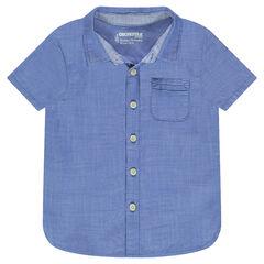 Κοντομάνικο πουκάμισο με πλακέ τσέπη