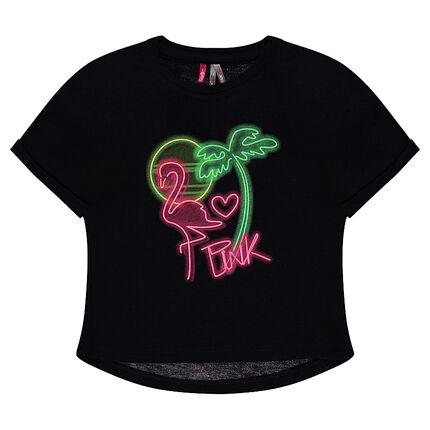 T-shirt à manches courtes print néon