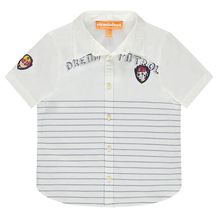 Κοντομάνικο πουκάμισο ριγέ με μπαλώματα Paw Patrol