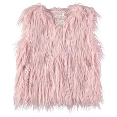 Παιδικά - Ζακέτα από ροζ συνθετική γούνα