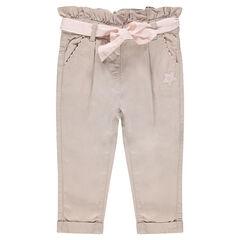 Παντελόνι από lyocel με σούρες στη μέση και ζώνη που δένει