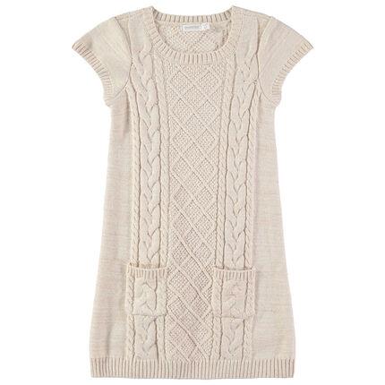 Παιδικά - Αμάνικο πλεκτό φόρεμα με τσέπες