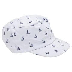 Καπέλο με γείσο και μοτίβο καραβάκια