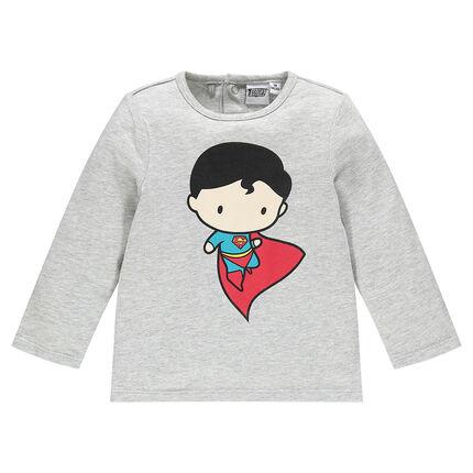 Tee-shirt manches longues en jersey JUSTICE LEAGUE - CHIBI print Superman