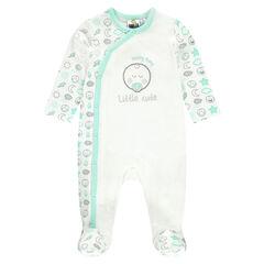 Ζέρσεϊ φορμάκι ύπνου με τύπωμα ©Smiley Baby σε λούρεξ