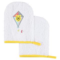 Σετ 2 πετσετέ γάντια μπάνιου με μοτίβο τον Γουίνι το αρκουδάκι της Disney