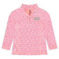 Μακρυμάνικη μπλούζα με φερμουάρ στον λαιμό και τυπωμένα σχέδια