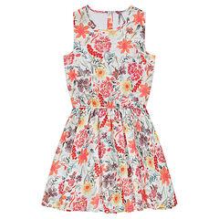 Παιδικά - Εμπριμέ φόρεμα με φλοράλ μοτίβο