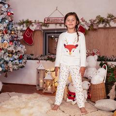 Pyjama de Noël en sherpa avec sequins dorés