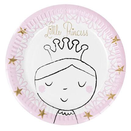 Σετ με 10 χάρτινα πιάτα γενεθλίων με μοτίβο πριγκίπισσα