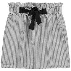 Παιδικά - Φούστα ψηλόμεση με λάστιχο, λεπτές ρίγες και κορδονάκια που δένουν μπροστά