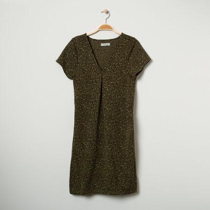 Κοντομάνικο φόρεμα εγκυμοσύνης με λεοπάρ μοτίβο