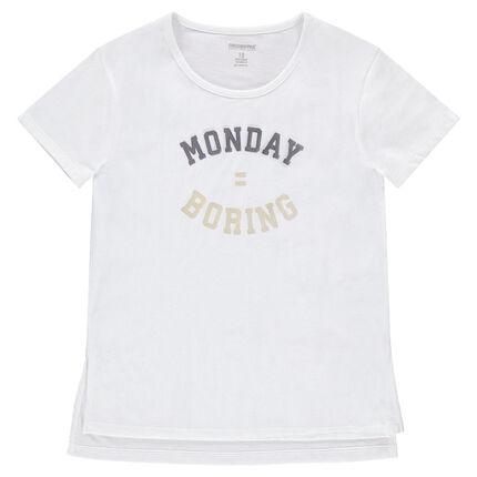 Κοντομάνικη ζέρσεϊ μπλούζα με τυπωμένο μήνυμα