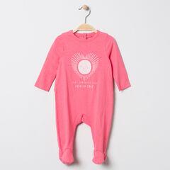 Dors-bien en jersey rose print coeur