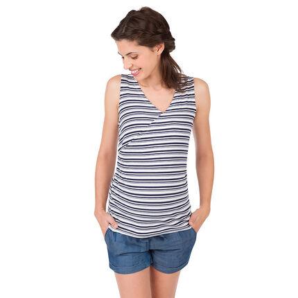 Αμάνικη μπλούζα εγκυμοσύνης και θηλασμού