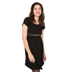 Κοντομάνικο φόρεμα εγκυμοσύνης με ελαστική ιριδίζουσα φάσα