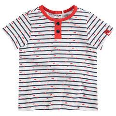 ca1cff48c957 Κοντομάνικη μπλούζα με ρίγες ...