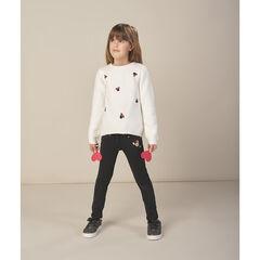 Jean effet used motif Minnie Disney avec ceinture amovible