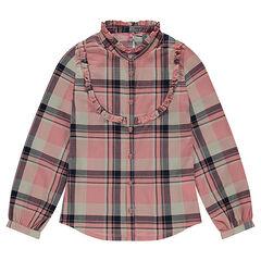 Παιδικά - Μακρυμάνικο πουκάμισο σε βαμβακερή ύφανση με καρό