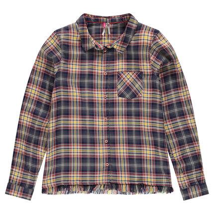 Παιδικά - Καρό πουκάμισο με διακοσμητικά κρόσια
