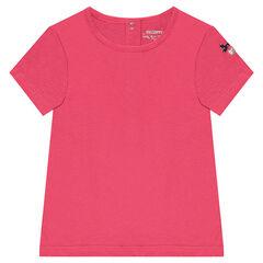 Κοντομάνικη μπλούζα με κεντημένη καρδιά