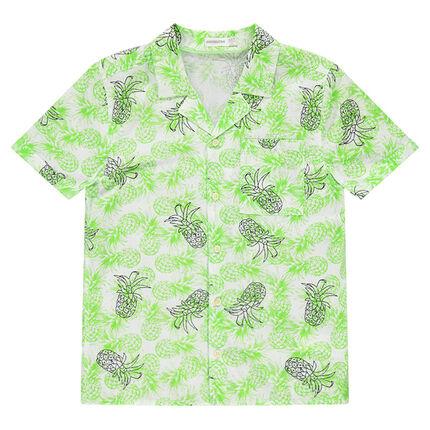 Παιδικά - Κοντομάνικο πουκάμισο με μοτίβο ανανάδες