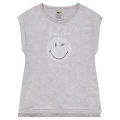 Παιδικά - Κοντομάνικη μπλούζα από ζέρσεϊ και δίχτυ με στάμπα ©Smiley