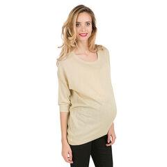 Πλεκτό εγκυμοσύνης με γυαλιστερή ύφανση