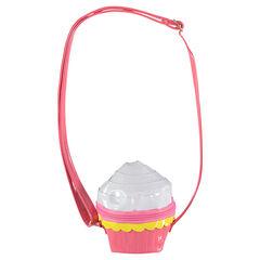 Τσάντα από λουστρίνι σε σχήμα cupcake με ρυθμιζόμενο λουράκι