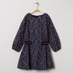 Robe manches longues imprimé all-over