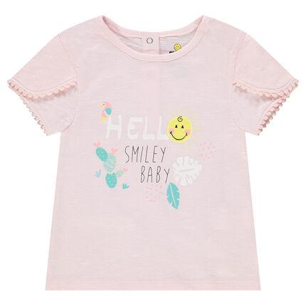 Κοντομάνικη μπλούζα από βιολογικό βαμβάκι με στάμπα ©Smiley